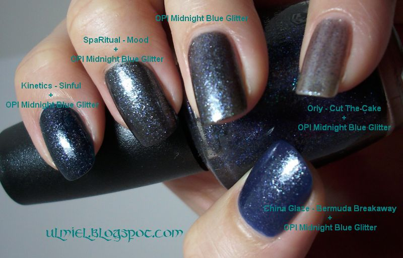 Did someone say nail polish?: O.P.I. Midnight Blue Glitter (+ layering)