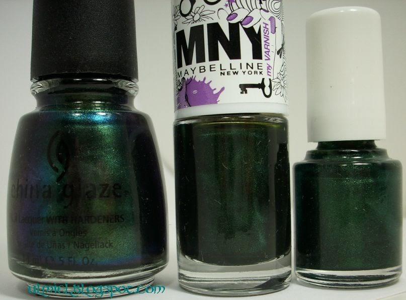Did someone say nail polish?: Green Comparison: ChG Gussied Up Green ...
