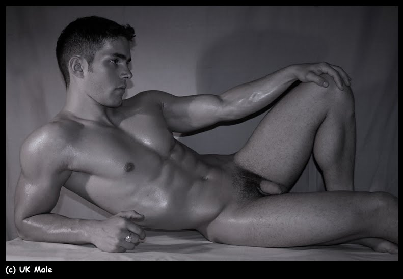 Artistic naked men body