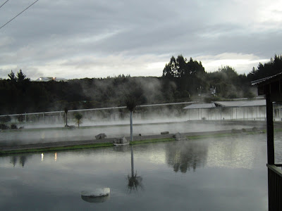 Steaming Ponds at Huka Falls Prawn Park, Taupo, New Zealand