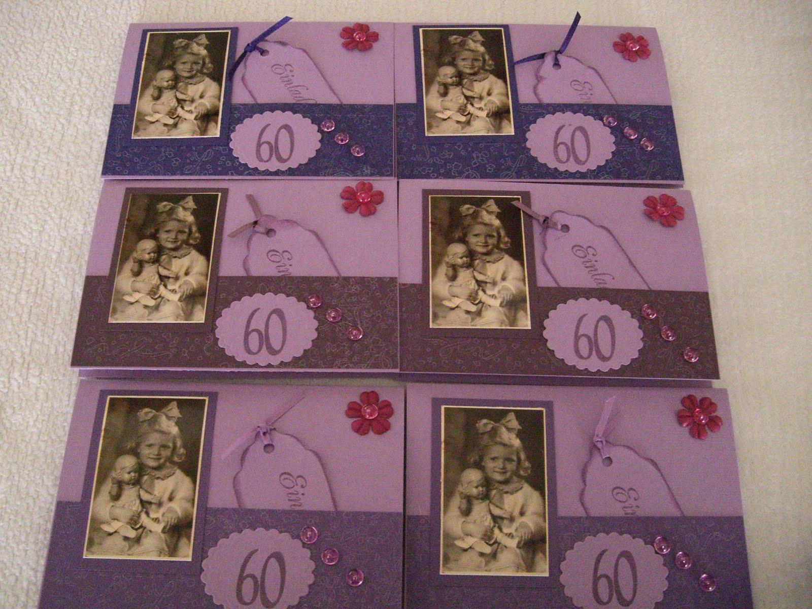 sind die Einladungskarten zu meinem 60. Geburtstag.