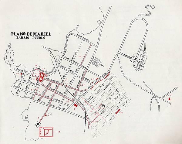Plano del casco urbano Mariel