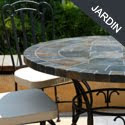 Table de jardin en pierre