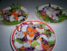 Dinner salad with Daikon