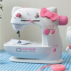 chrystal ☆•*¨*•.¸¸: Hello Kitty Sewing Machines