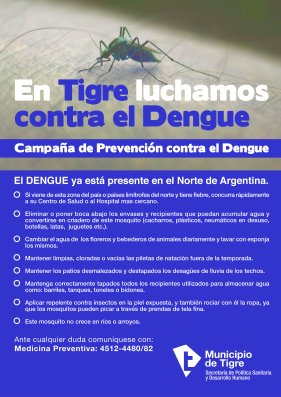 Avanzan las acciones de prevención del Dengue