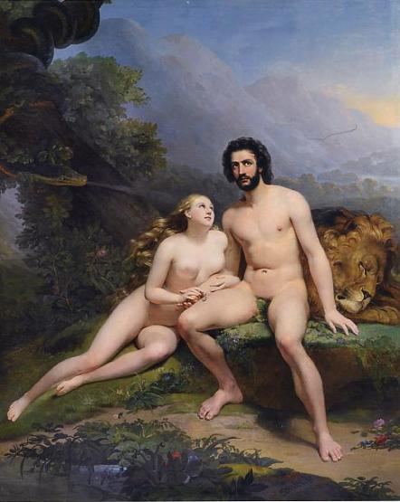 фото голых адама и евы