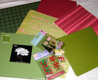 holiday scrapbooking paraphanalia