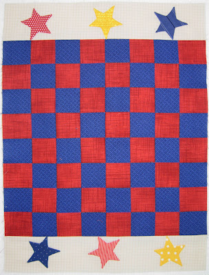 Playtime Quilt: the checkerboard