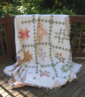 completed Star Quilt Along quilt