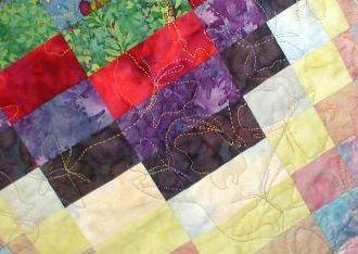 Megan's Butterflies, quilting detail