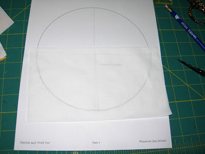 tracing the template