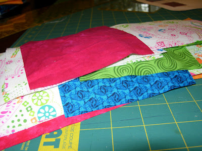 fabric cut and ready to sew