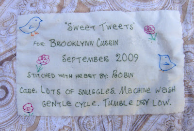 Sweet Tweets label