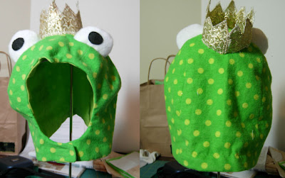 frog hat before alterations