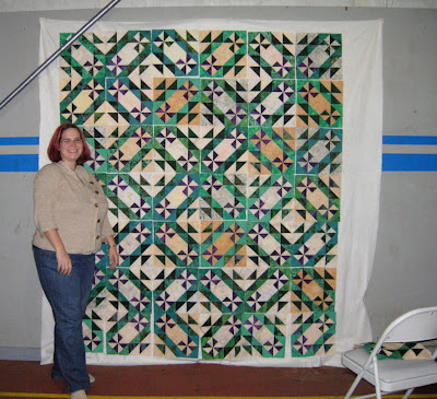 me and my Prairie Pinwheel blocks