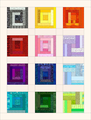log cabin quilt B