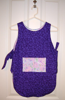 toddler apron, purple side