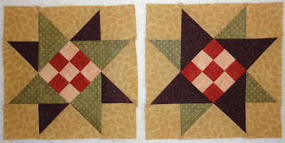 Green Piece pieced block 8