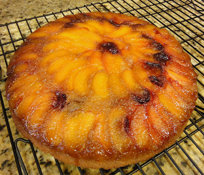 Brandy Buttermilk Apricot Cherry Upside-Down Cake