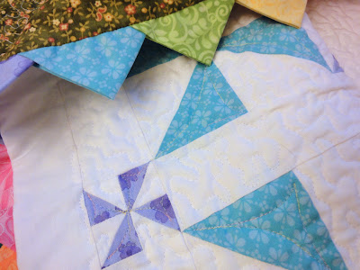 Pinwheel Party quilting progress