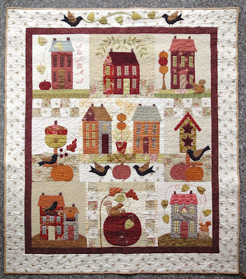 Autumn House quilt completed
