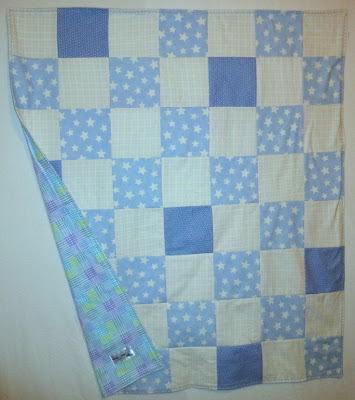 starry blue square blanket
