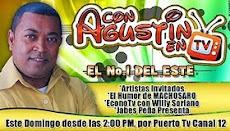 Con Agustin en Tv