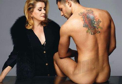 The Still Beautiful And Always Talented Catherine Deneuve With Model