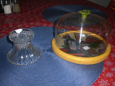 Homemakin and decoratin cheese dome makeover for Type of spray paint for glass