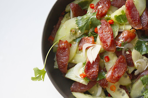 Thai sausage salad