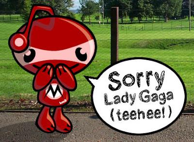 Mischief Mascot apologising sincerely