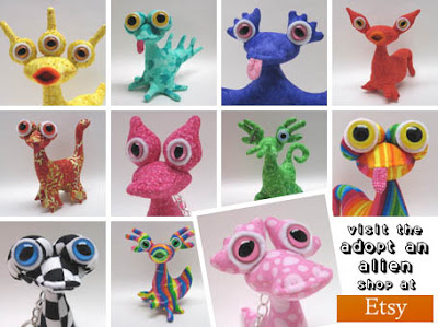 Adopt an Alien at Etsy!