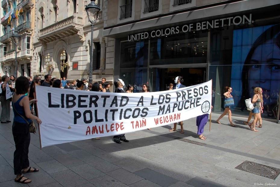 Plataforma Civil por la Libertad de los Presos Políticos Mapuche. Barcelona.