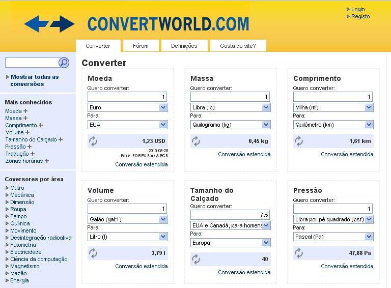 click info tips conversor de medidas online