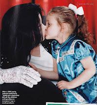 Michael e a filha Paris - a expressão do amor maior