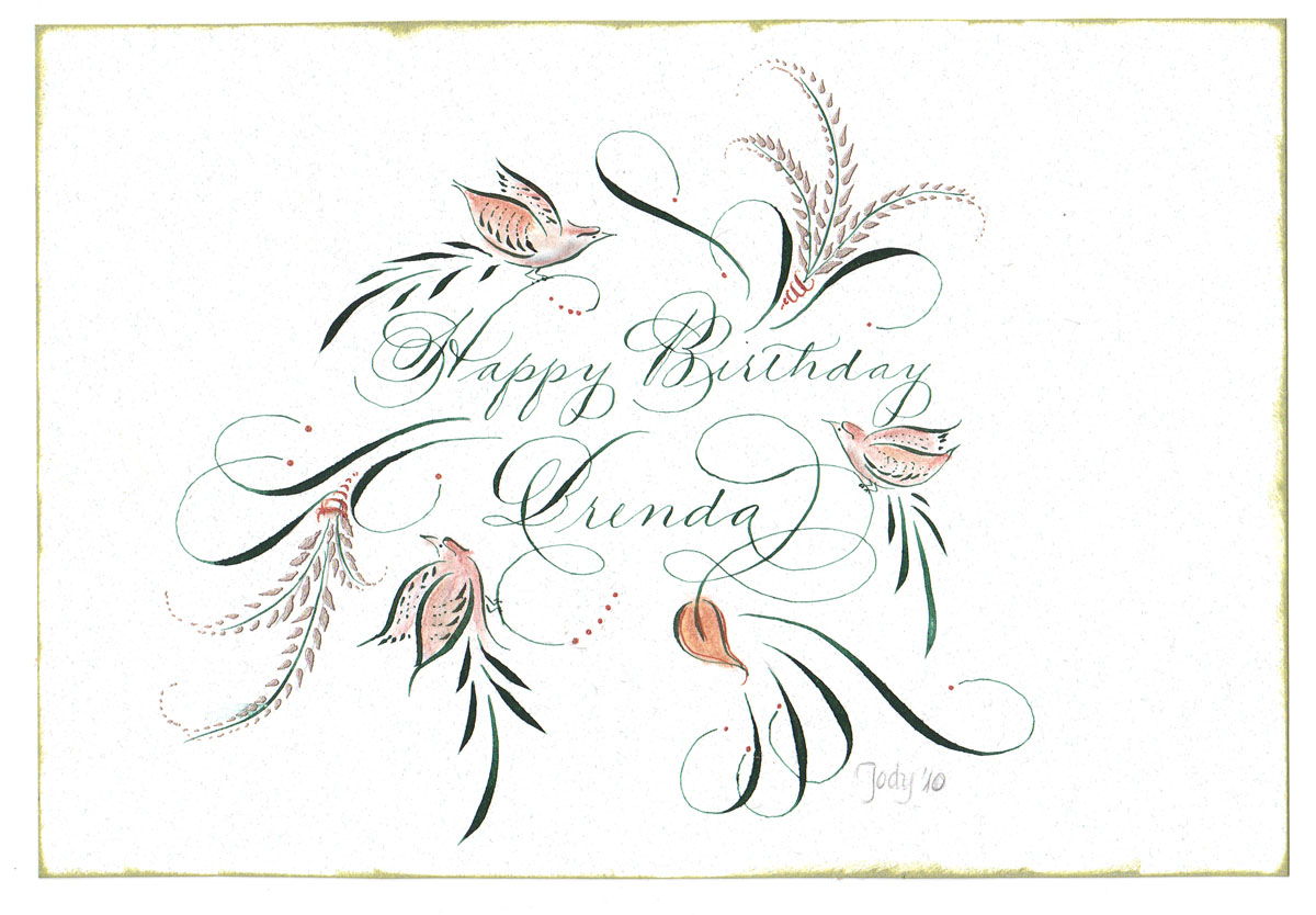 Happy Birthday Cursive Writing The