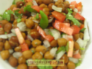chana chat, channa chat, chat recipe, chana chat recipe
