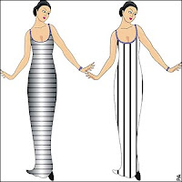 Look thin choose right dress style fushion funda horizontal stripes