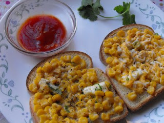 corn toast, paneer recipe, quick snack, healthy corn snack