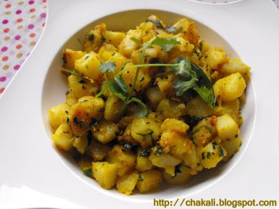 potato recipe, Indian potato curry, Poori bhaji, puri baji recipe, marathi recipe