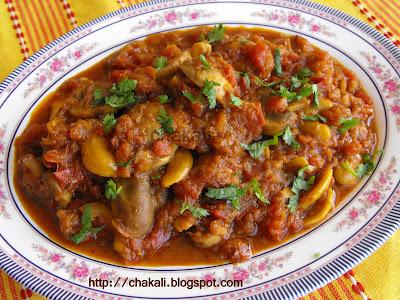 Mushroom masala, Mushroom Kadhai, Mushroom curry