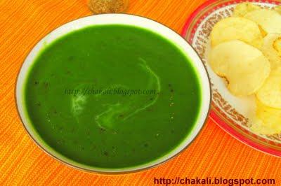 Spinach Soup, Creamy soup, Creamy spinach soup, healthy spinach soup, palak soup, palakache soup