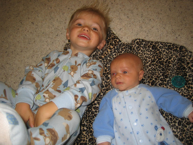 Kolton and Krew playing before bedtime in Tremonton