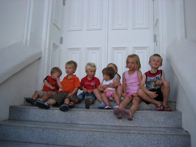 All the Asay cousins on the stairs to the temple