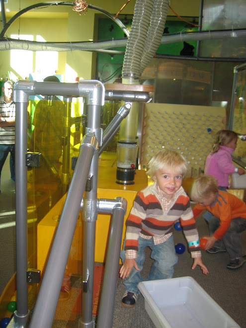 Kolton went to a childrens museum with Grandma and Grandpa Asay while we were in Utah