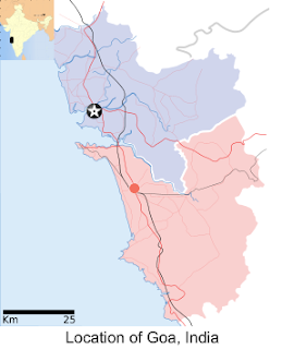 map showing location of Goa