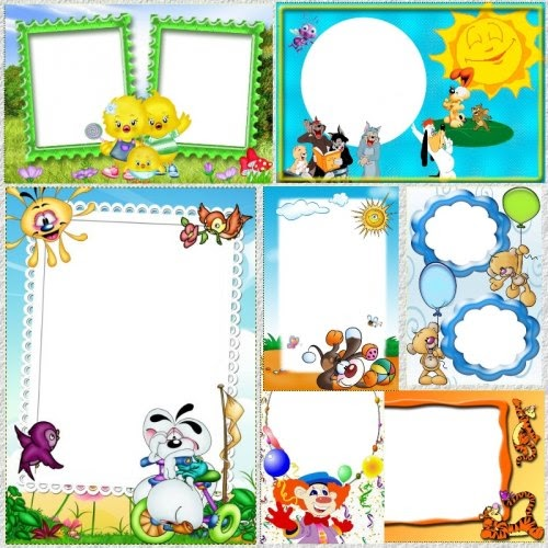 marcos de fotos infantiles en alta resoluci n. Black Bedroom Furniture Sets. Home Design Ideas