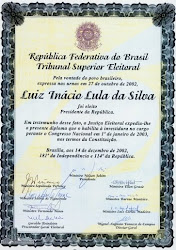 Diploma do Ex-Presidente Lula