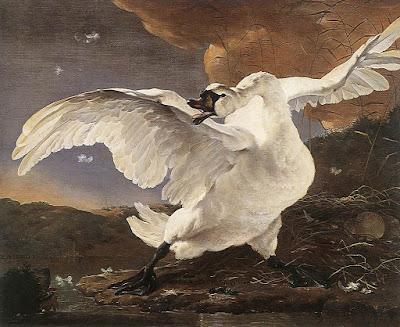 ASSELYN, Jan The Threatened Swan, 1652
